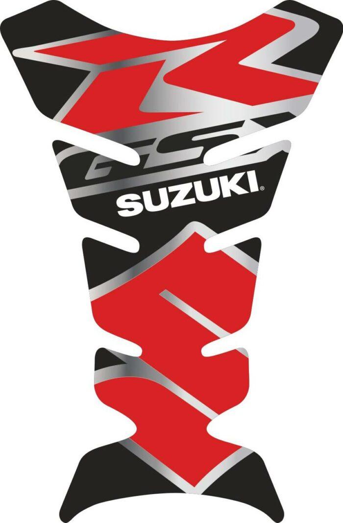 Объёмная 3D наклейка на бак Suzuki-R-grey