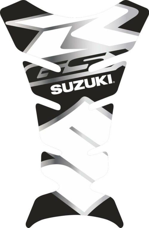 Объёмная 3D наклейка на бак Suzuki-R-white-black-S