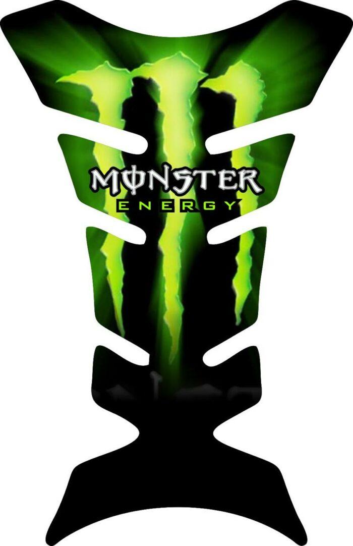 Объёмная 3D наклейка на бак мотоцикла Glow-Monster