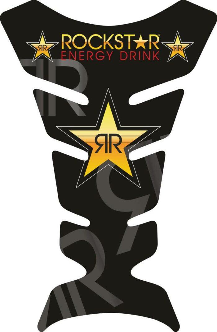 Объёмная 3D наклейка на бак мотоцикла Rockstar