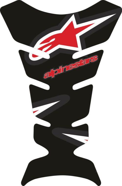Объёмная 3D наклейка на бак мотоцикла Alpinestars