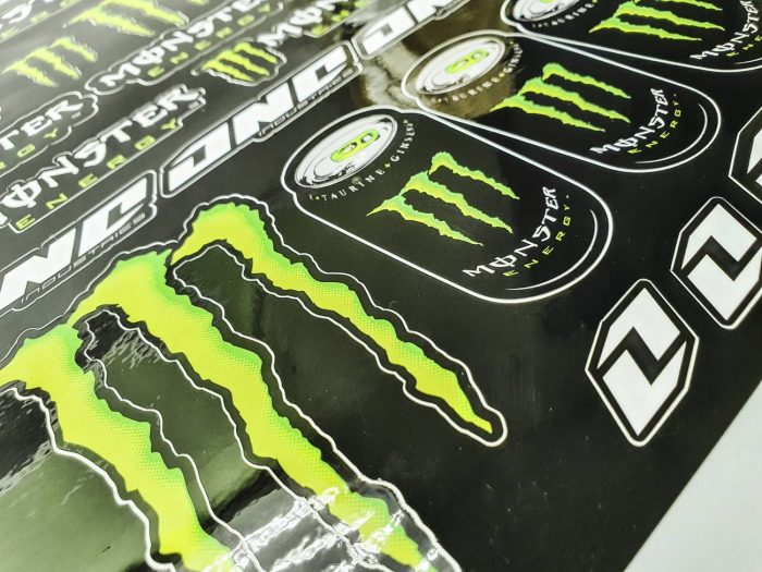 Лист наклеек Monster energy